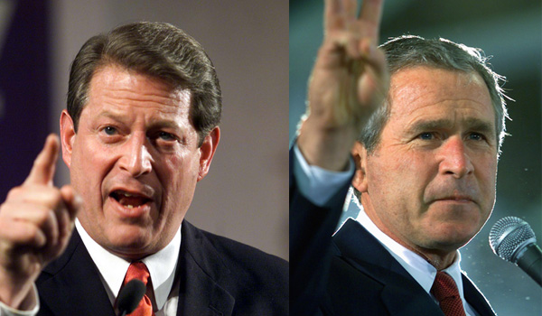 a comparison of bush and gore